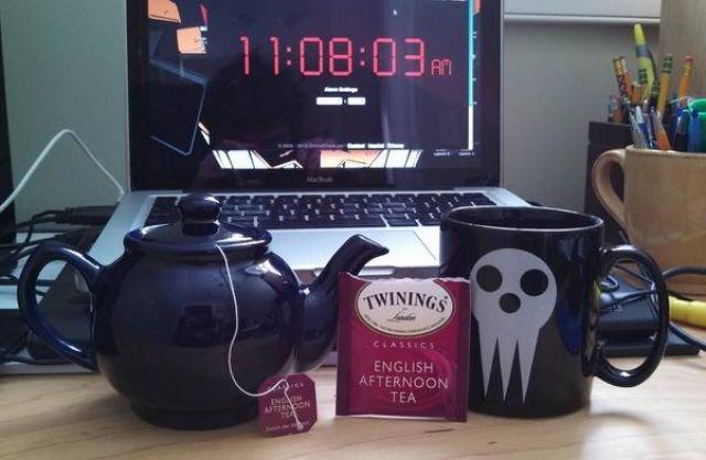 This guy is such a rebel. .. i want that mug. adasdasdas