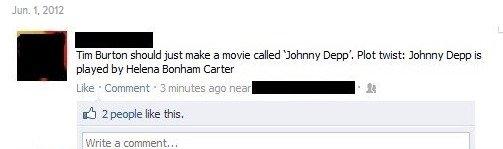 Tim Burton in a Nutshell. .. And they all do drugs! facebook tim burton johnny depp funny