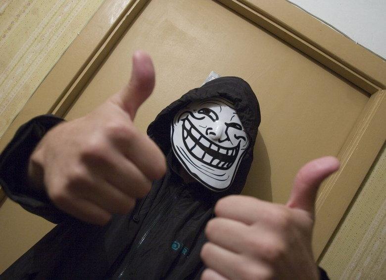 Trollface mask. Trollface masks on trollface-mask.com. trollface
