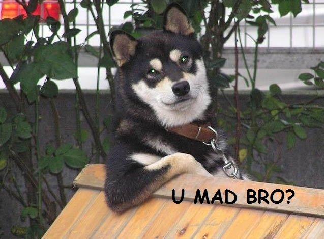 U mad bro ?. .. :)))) that was funny dude :d u mad bro