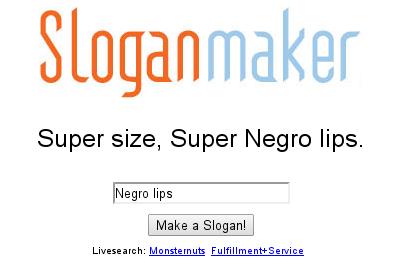 uhm... . Super size, Super Negro lips. lips Make a Slogan! Slogan maker negro Lips Bowling Horse
