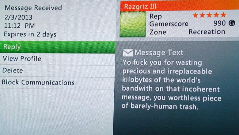 Ultimate Response. I'am human trash.. My favorite xbox live message. Ultimate Response I'am human trash My favorite xbox live message