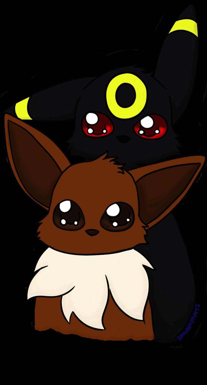 Umbreon and Eevee. request from djjeroenski, hope you like it C:. Pokemon Art