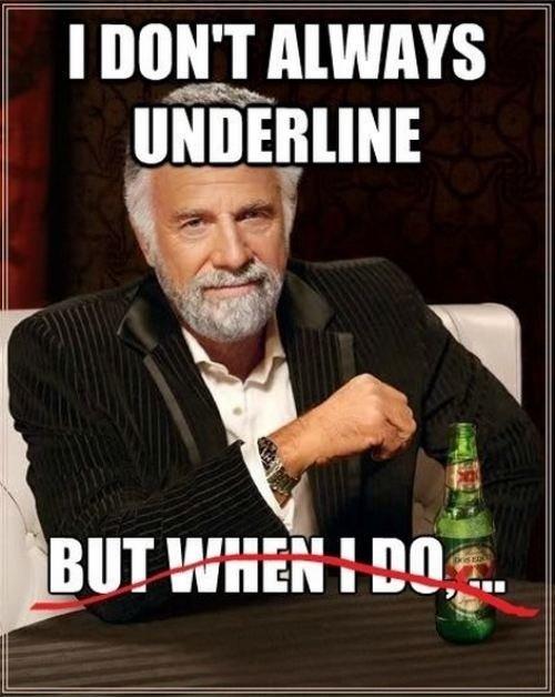 Underline. . Underline