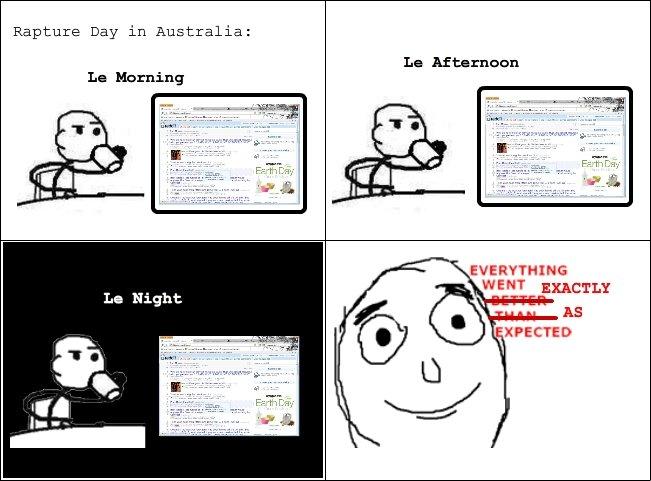 Update: Rapture in Australia. . Rapture Day in Australia: Ln Afternnon La Herning. Fixed. Update: Rapture in Australia Day Australia: Ln Afternnon La Herning Fixed