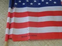 U.S.A! U.S.A! U.S.-- oh.. .. Have a Chinese flag made in the USA. U S A! -- oh Have a Chinese flag made in the USA