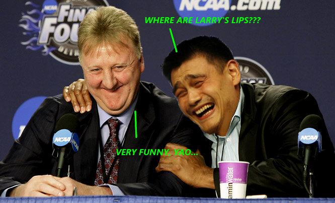 Yao Ming & Larry Bird. Yao Ming & Larry Bird.. yao ming larry Bird
