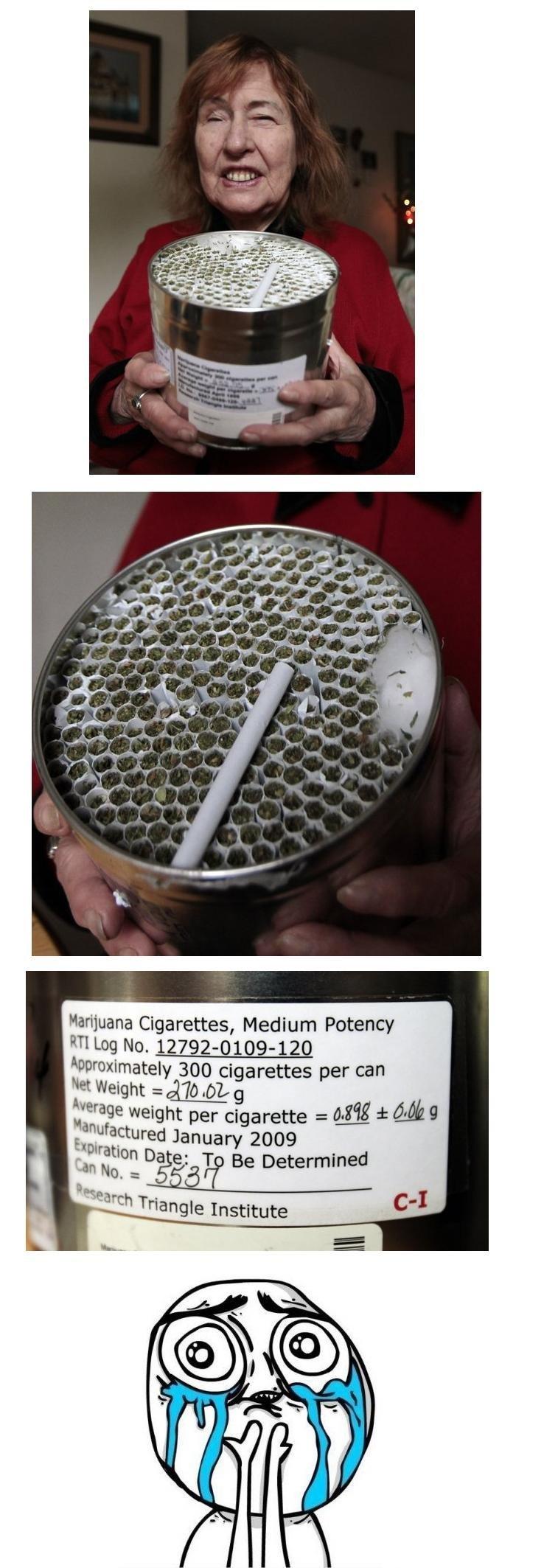 Yesterday. Today. marijuana Cigarettes, Medium Potency approximated tomorrow