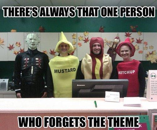 You again!. .. yea who the hell invited mustard cenobites Hell raiser Scary funny fail theme