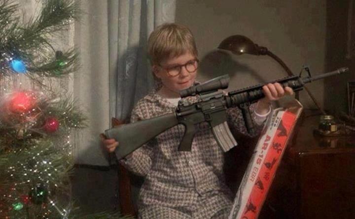 You'll shoot your eye out, kid.. Kids nowadays..... I only got a DPMS rifle. I never got an ACOG scope. Friends dont let shoot BB guns