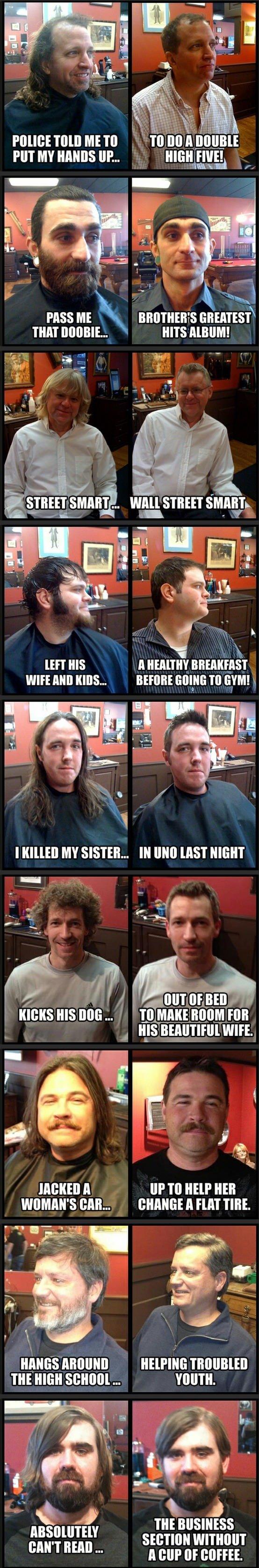 "Your Haircut Matters. . thin. PASS ME ht ""l GIVEA' I' EST\ ET HIS A MAIN? BREAKFAST Mom A  gqq. Has cancer Your Haircut Matters thin PASS ME ht ""l GIVEA' I' EST\ ET HIS A MAIN? BREAKFAST Mom gqq Has cancer"