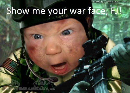 Your war face. Show it to me!. SHOW ME YOUR WAR FACE, MAGGOT!. war face maggot