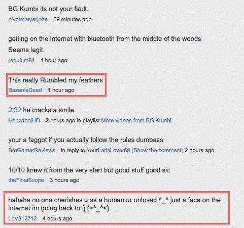 Youtube, FJ response to BGK. Also, this really rumbled my feathers.... oh thats me pivotmasterjohn c: troll bridge rawr