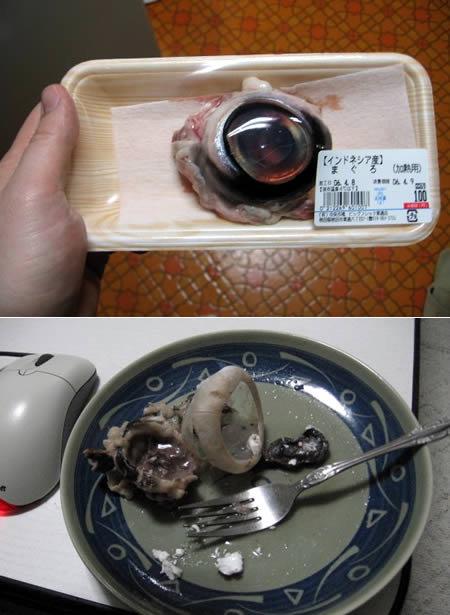Yum Yum. Japan's finest!. Male. Must Clean Mouth! Japan eye Food Disgusting yum nomnomnom