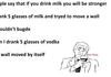 Milk vs vodka