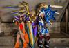 Sivir, Kayle, and Gnar Cosplays